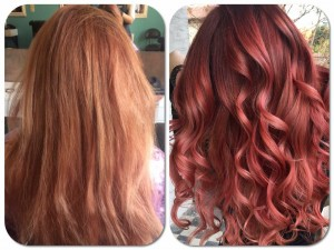 red balayage by Keleme Laura
